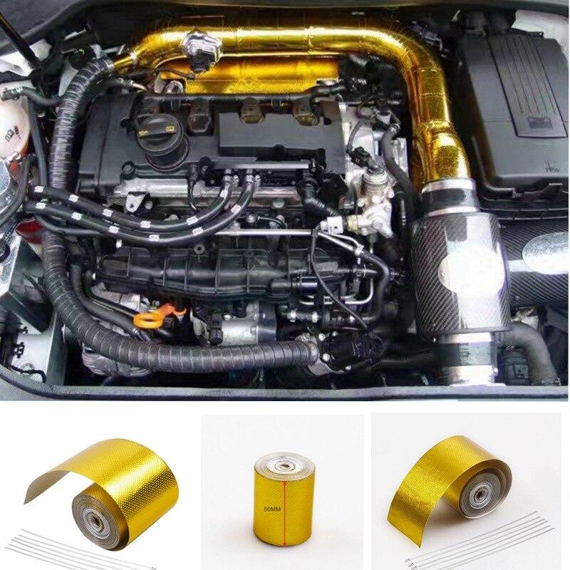 Universal-Automobile Auspuffrohr Auto Isolierband Aluminium Auto Folie Schmücken Isolierung Klebeband Wärme Schild Band