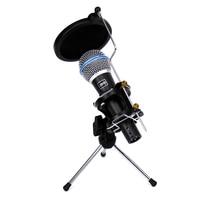 Professional Dynamic Microphone Spider Tripod Desktop Mic Stand Shock Monut Wind Screen Pop Filter For BETA 58A Karaoke System