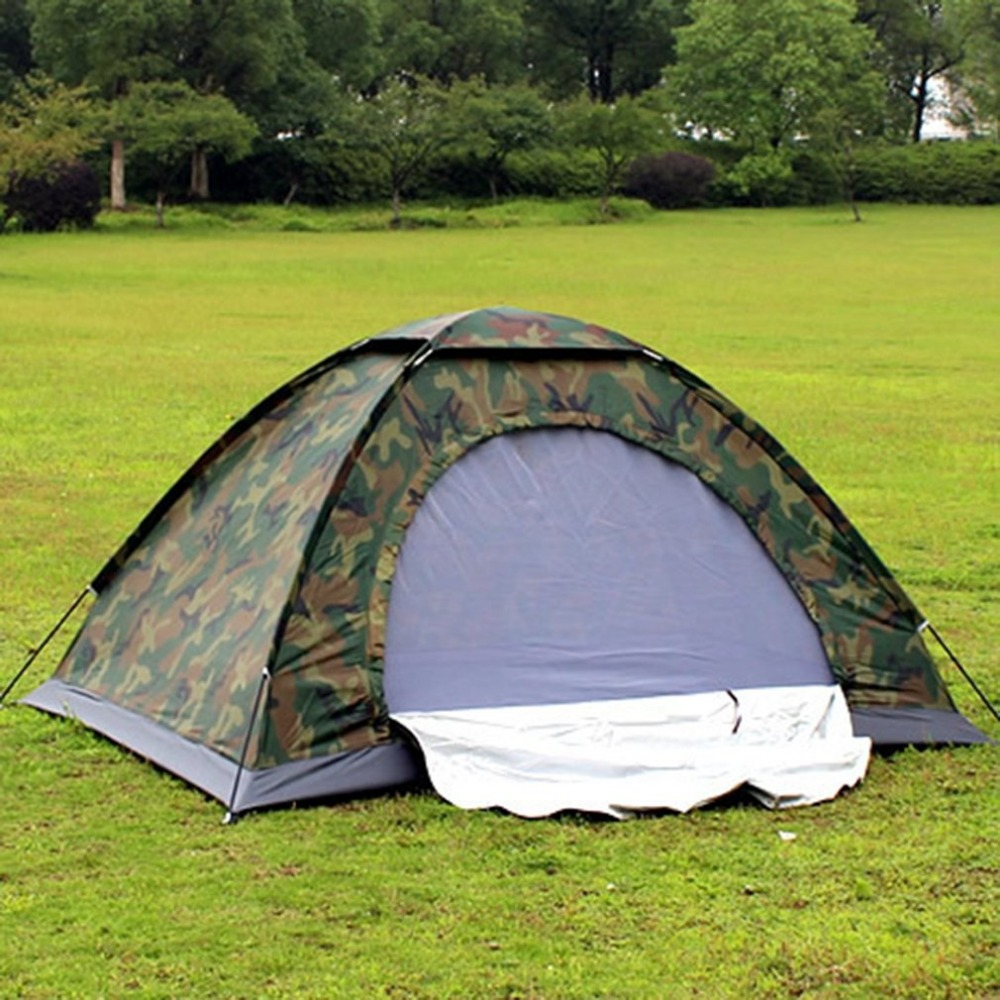 OUTAD Camouflage Outdoor Camping Tent Portable 2 Person Tourist Tent Anti-Mosquito Fishing Tent Waterproof Travel Hiking Tent 3 x 9m portable home use waterproof tent white high quality outdoor travel waterproof tent easy to install and use