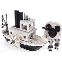 2019 New Wowpa 16062 Creator Expert Steamboat Willie Compatible Legoinglys 10262 Bricks Model Building kits Educational Toys