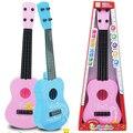 Del cabrito del bebé 4 cuerdas de guitarra acústica sabiduría desarrollo simulación juguete de la música