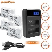 цена на 4X 1800mah LP-E8 LPE8 LP E8 Battery Batterie AKKU+LCD Dual Charger for Canon EOS 550D 600D 650D 700D X4 X5 X6i X7i T2i DSLR L15