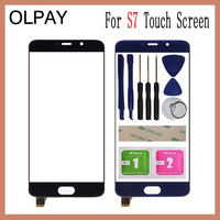 OLPAY 5.5'' Mobile Phone For Elephone S7 Touch Screen Glass Front Glass Digitizer Panel Lens Sensor Flex Cable Tools|Mobile Phone Touch Panel|   -