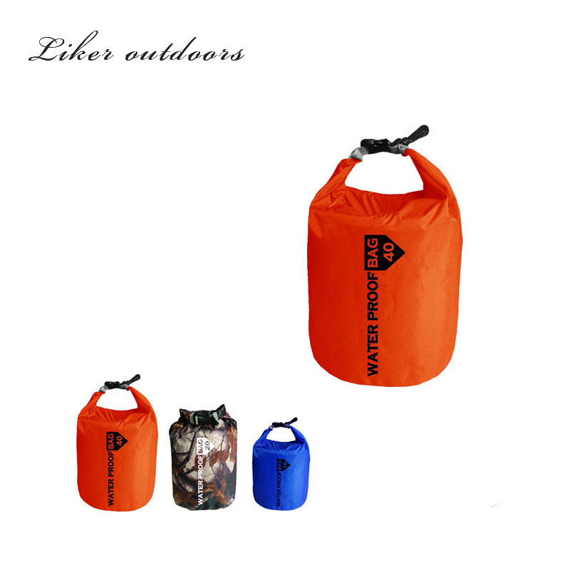 many Colors Portable 10L 20L Waterproof Outdoor Bag Storage Dry Bag for Canoe Kayak Rafting Sports Camping Equipment Travel Kit