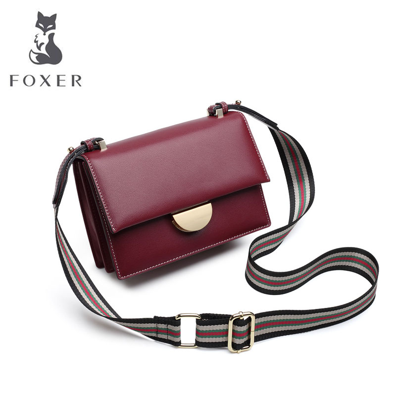 Cow leather handbag  2019 new tide leather wild shoulder messenger bag fashion organ small square bagCow leather handbag  2019 new tide leather wild shoulder messenger bag fashion organ small square bag