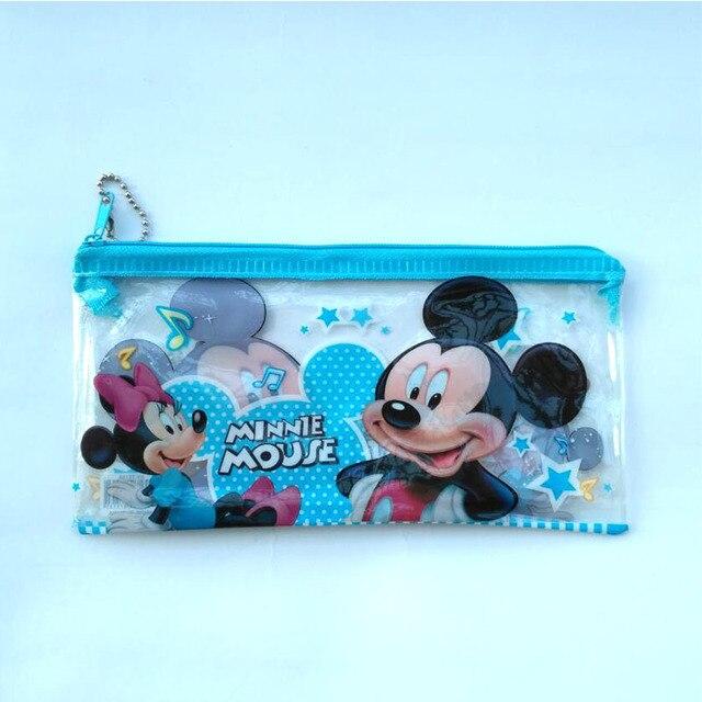 867dd2b024d 2 pcs lot Cartoon Mickey mouse pencil case for kids gift Lovely PVC pen bag