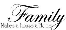 Family Makes a House Home Vinyl Wall Decal Fashion Room Quote Lettering Mural Art Wall Sticker Family Room Home Decoration