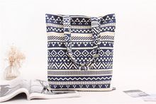 Wholesale ! Casual Summer Beach Women Bag Hot Sale Fashion High Quality Canvas Striped Handbags Shoulder Bag