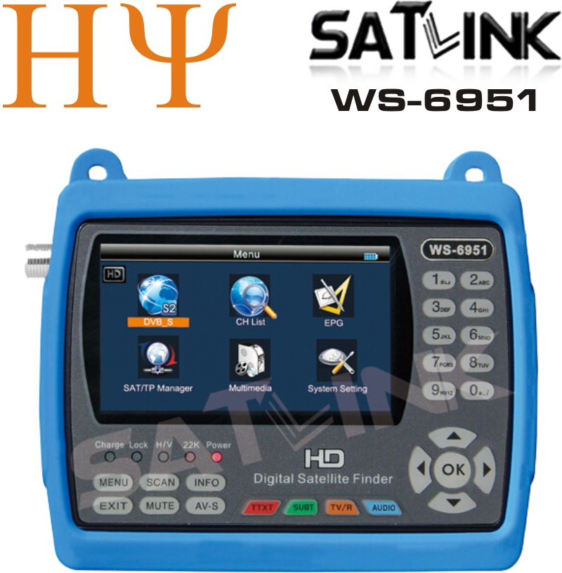 Satlink WS-6951 LCD Screen digital satellite finder lcd display See larger image Satlink WS-6951 LCD Screen digital satellite satlink ws 6922 rechargeable 3 5 color screen hd satellite finder w av usb black