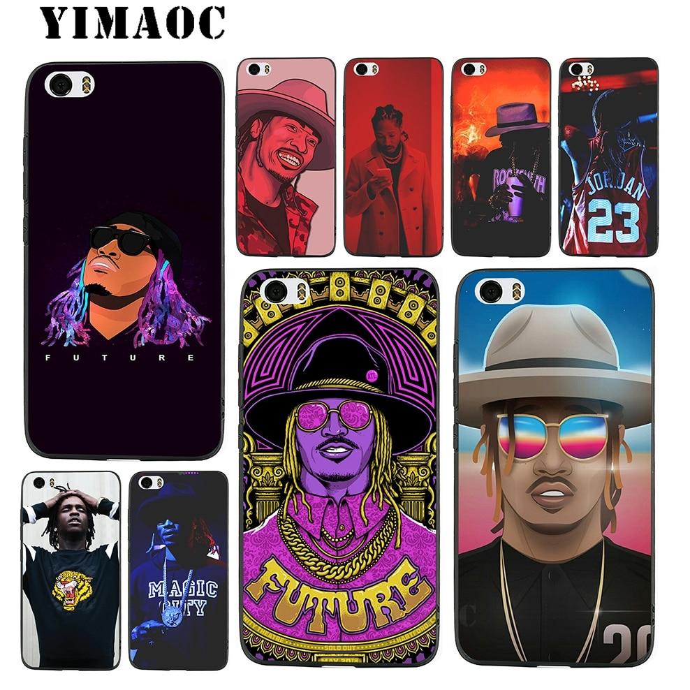 YIMAOC Future Hendrix Rapper Soft TPU Black Silicone Case for Xiaomi Mi6 5X A1 Redmi 4X 4A 5A 5 Plus Note 4