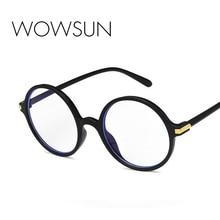 WOWSUN Retro Round Anti-Blue Light Sunglasses Women Brand Anti-Computer