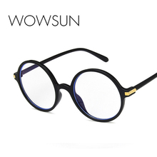 WOWSUN Retro Round Anti-Blue Light Sunglasses