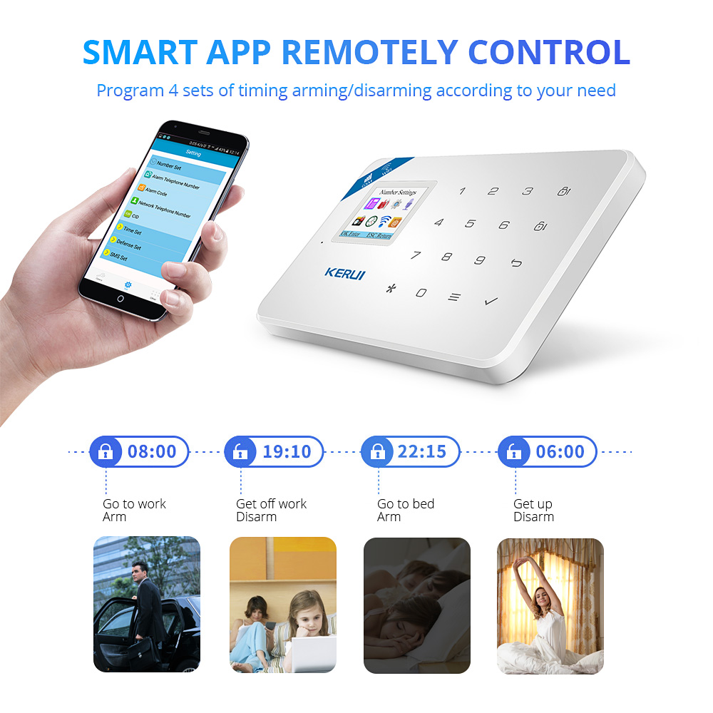 KERUI W18 Drahtlose WiFi GSM Alarm System Android ios APP Control home Security Alarm System mit PIR motion sensor IP kamera