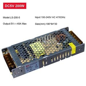 Image 5 - 超薄型 led 電源 DC12V 5 v 24 v 200 ワット 300 ワット led ドライバ AC190 240V 照明トランスフォーマー led ストリップライト