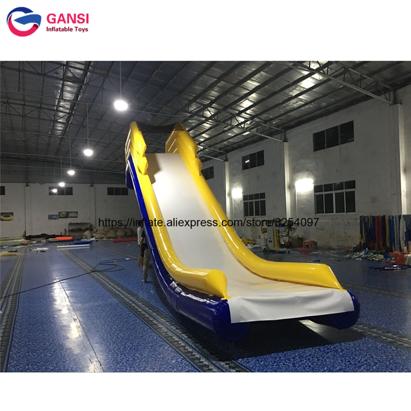 Guangzhou Inflatable floating water slide for boat / inflatable yacht slide water slide boat 4 1m red colour inflatable towable tube crazy ufo flying boat inflatable water sofa for summer water park