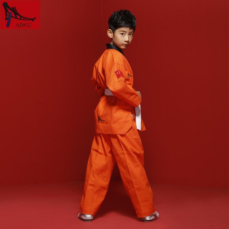 Hot Sale WTF Tae Kwon Do Dobok Clothes Child ITF Taekwondo Uniform  Size XXXS-M Pink Yellow White Green Orange purple 9 Colors martial arts tkd tae kwon do korea v neck adult taekwondo master uniform for poomsae