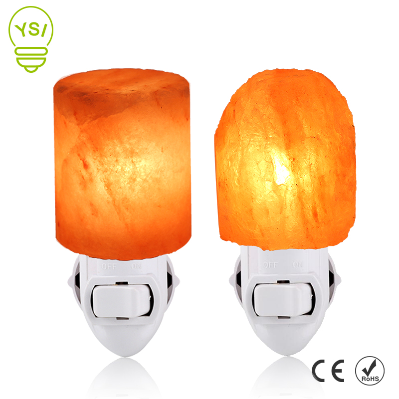 Himalayan Salt Lamp Rotatable Salt Light Air Purifier Cylinder Natural Shape Rock Wall Lamp EU/US Plug Night Light For Bedroom
