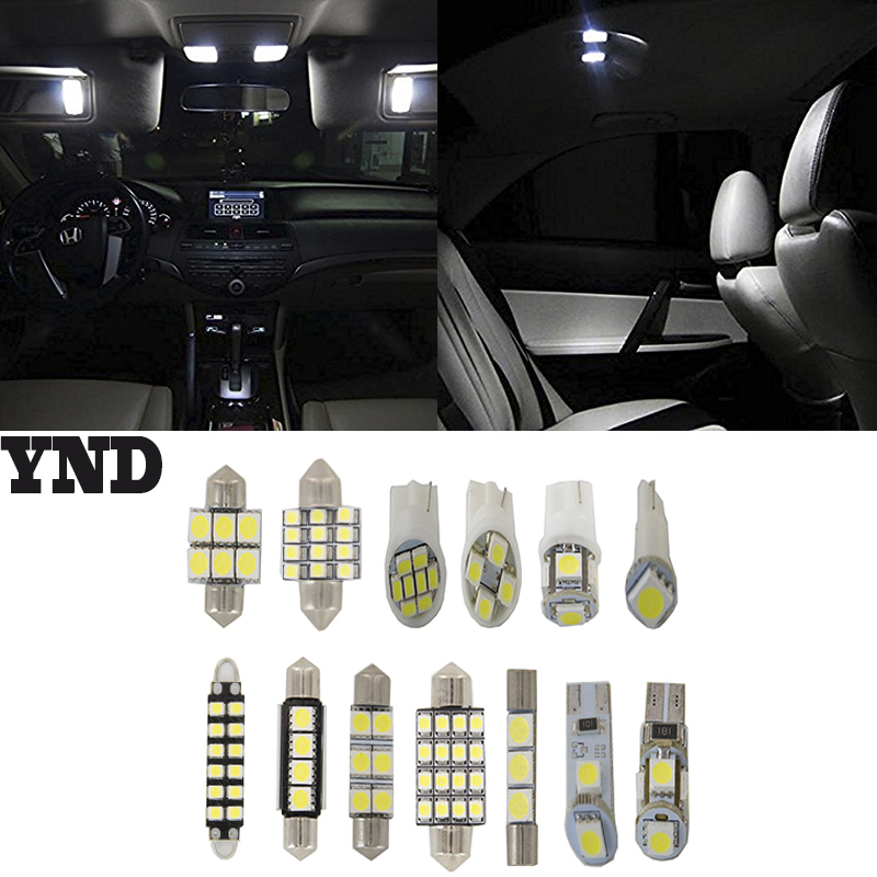 5x For 2004-2008 Ford F-150 SuperCrew Cab Interior Light Package White LED Bulbs