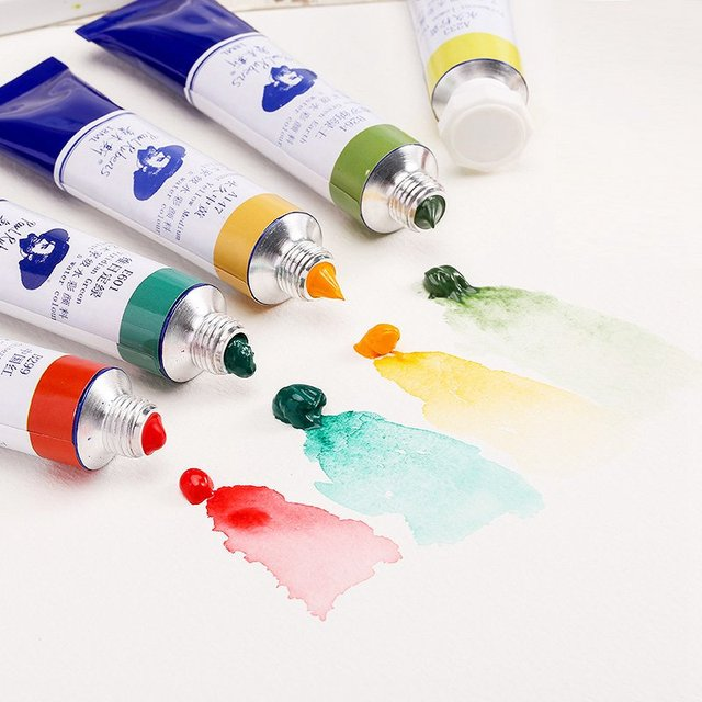 Paul Rubens 18ml Artist Watercolor Paints Tube Professional Water Color  Paint for Fabric Drawing Artist Pigment Art Supplies|Water Color| -  AliExpress