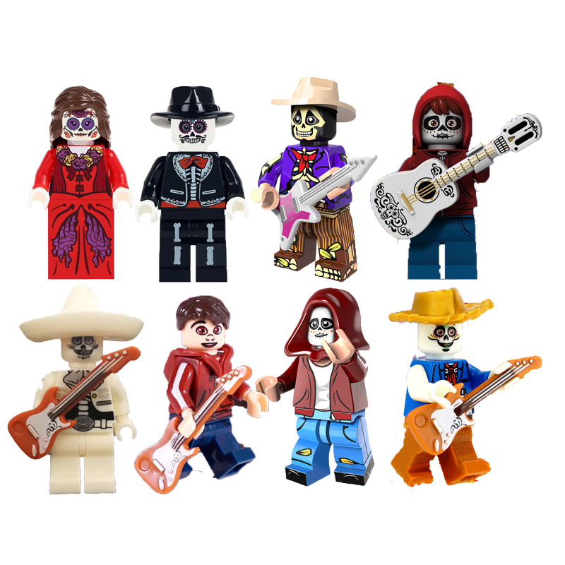 Single sale Hector Rivera Miguel Figure Set Mexico Movie Coco skeleton Model Building Blocks kits Brick Children toys Legoinglys