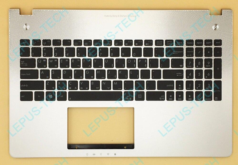KR Korean US Keyboard For ASUS N56 N56V N56VB N56VJ N56VM N56VV N56VZ Top Cover Upper Case Palmrest 90R-N9J1K2F80U Silver portuguese laptop keyboard for asus n56jk n56jn n56jr n56v n56vb n56vj n56vm with c shell palmrest cover backlit po