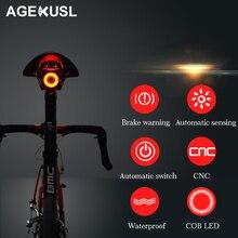 AGEKUSL интеллектуальные фонари для велосипеда предупреждение о тормозе автоматическое распознавание Велоспорт MTB дорожный велосипед задний фонарь лампа аксессуары