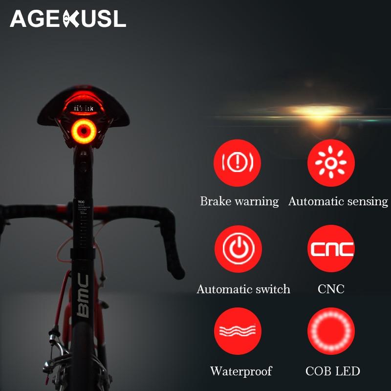 Bicycle Headlight Tail Lamp Set MTB Headlamp Rear Light Cycling Equipment N#S7