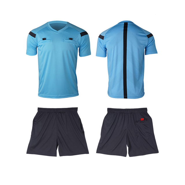 Referee Jersey Soccer Set 2017 Football Judge uniform Futbol Shirt Suit  Tracksuits survetement football maillot de foot 785dc97c90a4e