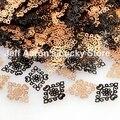 Negro patrón de diseño de uñas de metal foil calcomanías etiqueta de herramientas del clavo de la aleación 3d decoración del arte del clavo lentejuelas NUEVO EN 2015