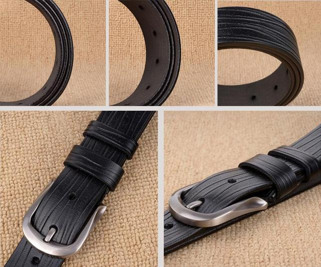 Vintage Design Genuine Leather Pin Buckle Belt For Men