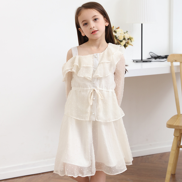 cf207d787 Aliexpress.com   Buy Girls Dresses 2018 Fashion Off shoulder ...