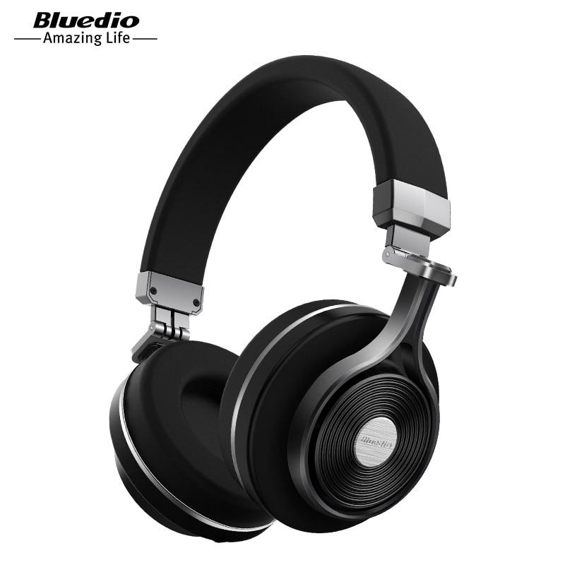 Bluedio T3 Sem Fio Bluetooth Fones De Ouvido/fone de ouvido com microfone para a música sem fio do fone de ouvido