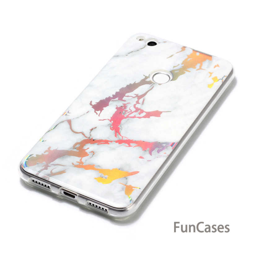 Case For Huawei P8 P9 Lite 2017 Case Silicone For Huawei P10 Lite Case P9 Lite Mini Plating Bling Marble Soft TPU Cover