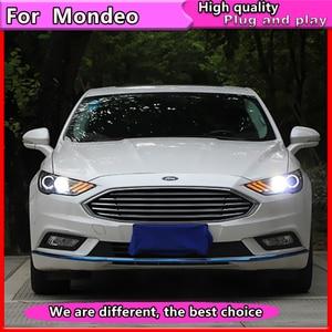Image 4 - Style de voiture pour Ford Mondeo 2016 2018 phare LED pour nouvelle lampe frontale Fusion clignotant dynamique LED DRL bi xénon HID