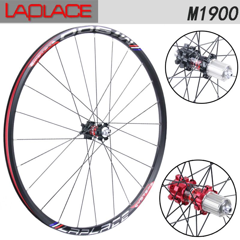 Mountain bike wheel 26 27.5 inch aluminum ultralight wheelset disc brake bicycle wheel LAPLACE M1900 26 32 holes disc brake mountain bike wheel alloy cassette ball hubs wheel suitable for 7 8 9 speed mountain bike accessories