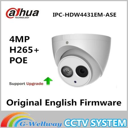 Dahua IPC-HDW4431EM-ASE 4MP PoE H.265 Eyeball Network Camera IR 50m IP67 WDR IP Camera Without Logo free shipping dahua cctv camera 4k 8mp wdr ir mini bullet network camera ip67 with poe without logo ipc hfw4831e se