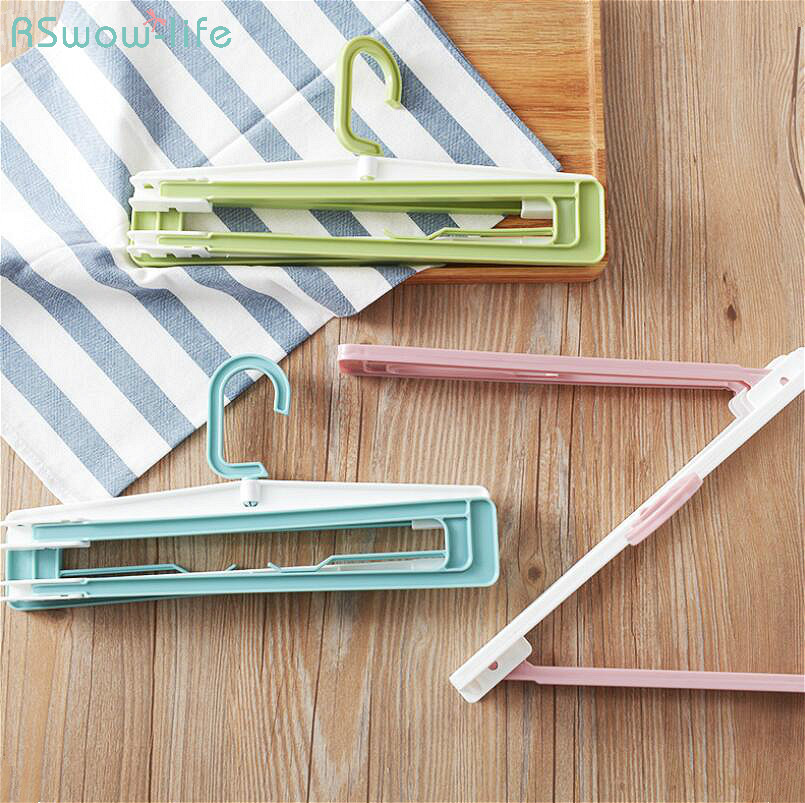 Household Foldable Scalable Multi-Purpose Clothes Rack Hanger Towel Bath Cloth Quilt Coat Hanging Rotating Plastic PP