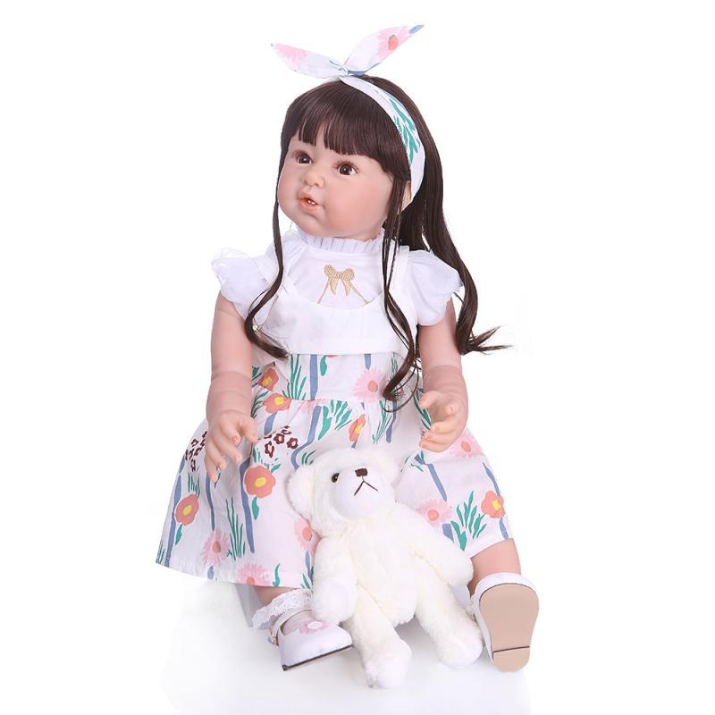 poupees de renaissance en silicone pour fille nouveau style corps en tissu realiste jouet avec de vrais vetements pour bebe modele d enfant 80 cm