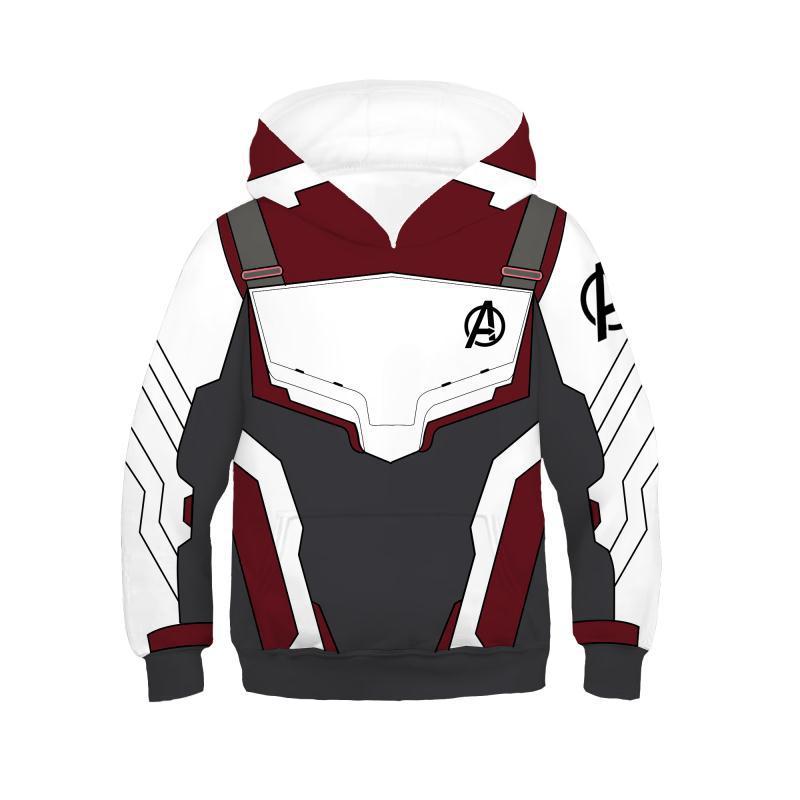 Kids Avengers Endgame 2019 Quantum Realm Hoodie Cosplay Costume Boys Captain Marvel Sweatshirt Endgame Advanced Tech Hoodies