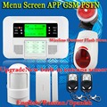 Free Shipping!Wireless Wired Alarm Systems Security Home LCD Menu screen Keyboard Sensor GSM PSTN Alarm System Russian Spanish