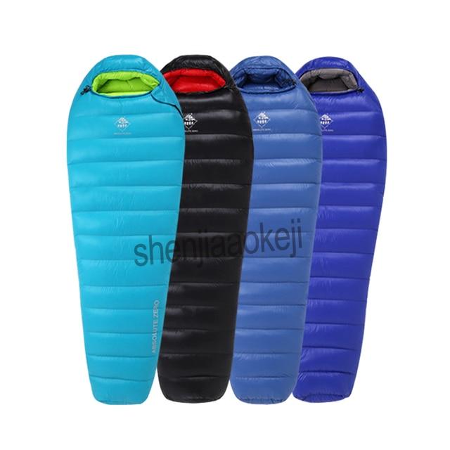 Portable Ultralight down sleeping bag Goose down Baffles Winter Outdoor Camping can splicing waterproof mountaineering sleep bag