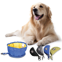 Bowl For Pets Dogs Cats Zipper Design Portable Pet Dog Collapsible Foldable Bowl Travel Camping Food