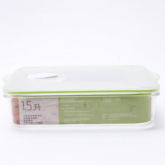 Contenedores de almacenamiento de alimentos sellados al vacío con tapas a prueba de fugas, caja de almacenamiento al vacío, caja para el frigorífico, caja de almacenamiento de alimentos