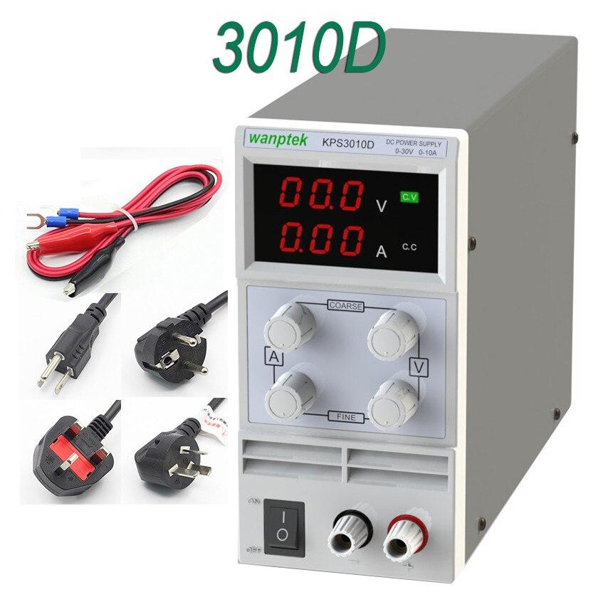 wanptek KPS3010D LED display switch DC Power Supply protection function 30V10A 110V 230V 0 1V 0