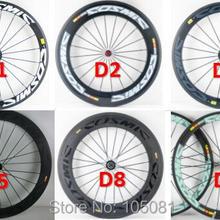 700C 38 50 60 88 мм шоссейный велосипед глянцевый матовый 3 К UD 12 к полный углеродного волокна велосипед колесная карбоновый клинчер трубчатые диски