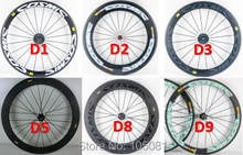 New 700C 38 50 60 88mm Road bike glossy matt 3K UD 12K full carbon fibre bicycle wheelset carbon clincher tubular rims Free ship