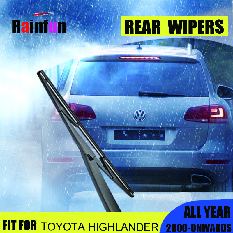 RAINFUN REAR WIPERS FOR TOYOTA HIGHLANDER (2000-onwards), 12 REAR WIPER BLADE, B-12A1 REAR WIPER FOR TOYOTA HIGHLANDER(00-)