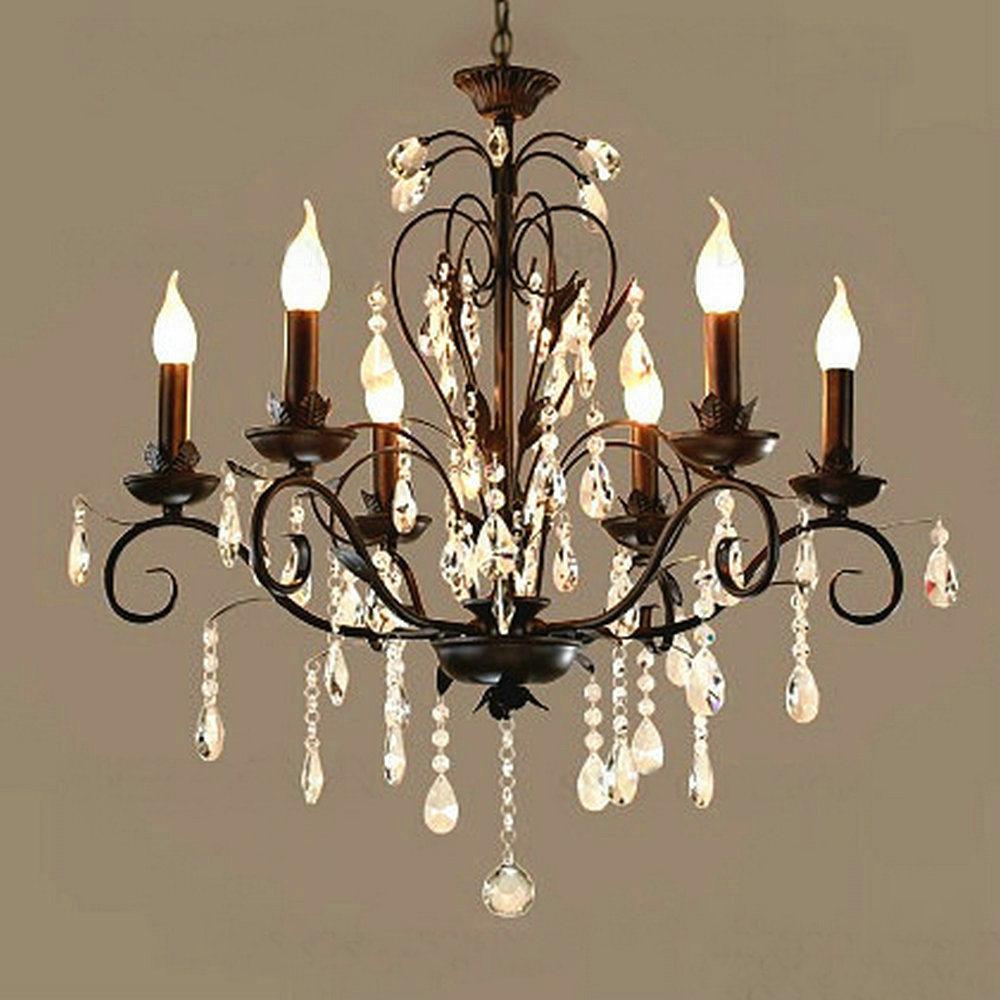 Us 105 57 49 offaliexpress com buy chandelier lighting vintage rustic wrought iron chandelier wedding decoration black led crystal chandeliers 6