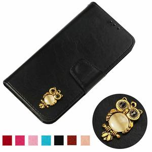 For ZTE Sequoia/ZTE Blade Z MAX/ZTE Zmax Pro 2 Z982 Z981 Case Luxury owl PU Leather Back Case Flip Phone Cover Bag Skin(China)