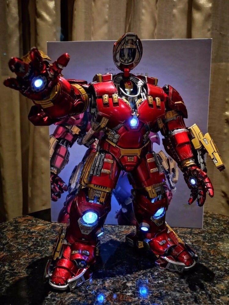 NUOVO Comicave 1/12 Bilancia Iron Man MK44 Action Figure Della Lega Led Hulkbuster ModelloNUOVO Comicave 1/12 Bilancia Iron Man MK44 Action Figure Della Lega Led Hulkbuster Modello